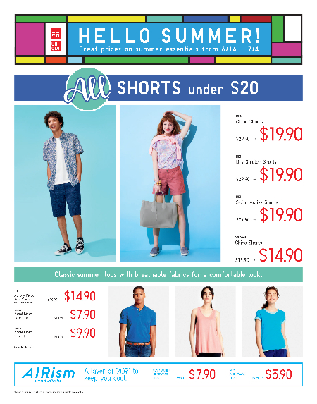HELLO SUMMER! Independence Day deals from UNIQLO