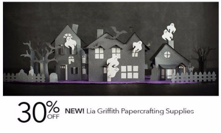 30% Off New Lia Griffith Papercrafting Supplies
