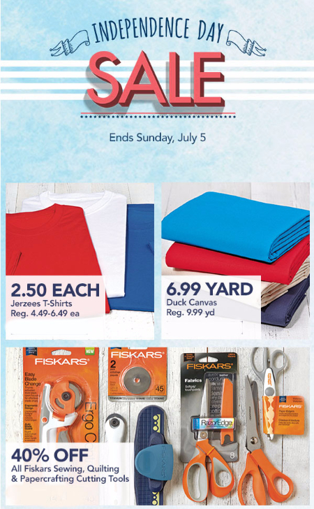 Independence Day Sale at Jo-Ann