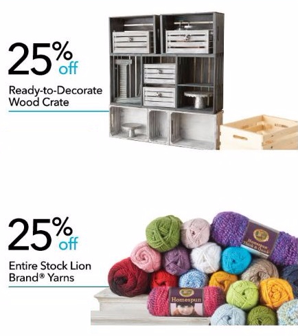 25% Off Ready-to-Decorate Wood Crate & More