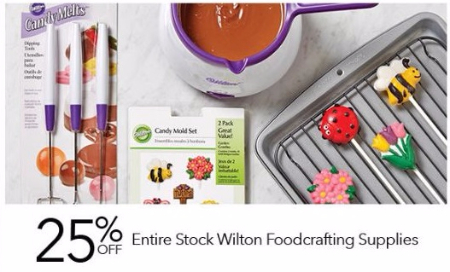 25% Off Entire Stock Wilton Foodcrafting Supplies