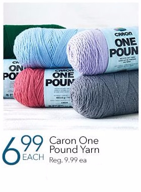 Caron One Pound Yarn Now for $6.99 Each