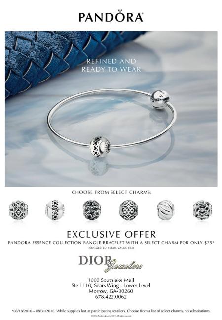 PANDORA Bangle Bracelet & Charm
