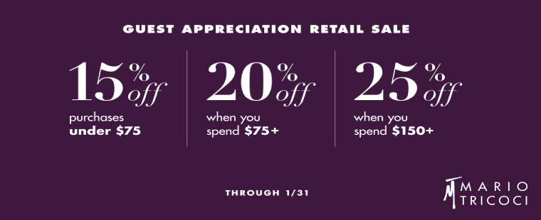 Guest Appreciation Retail Sale