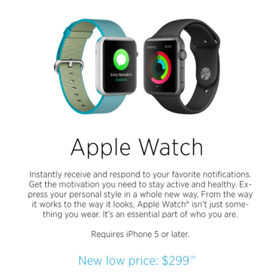 New Low Price: Apple Watch