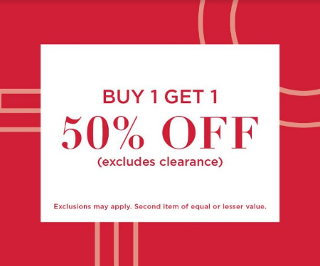 0725256a49b2c Buy One, Get One 50% Off Regular Priced Items!