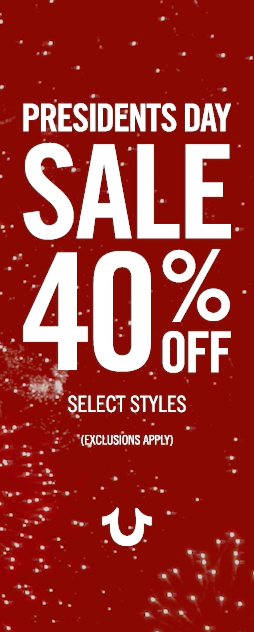 40% OFF Select Styles