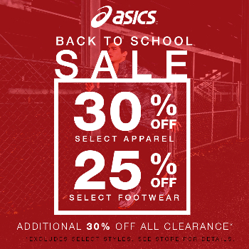 ASICS® Back to School Sale