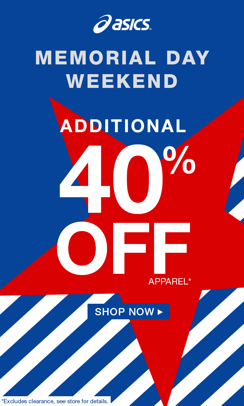 Memorial Day Additional 40% Off Apparel