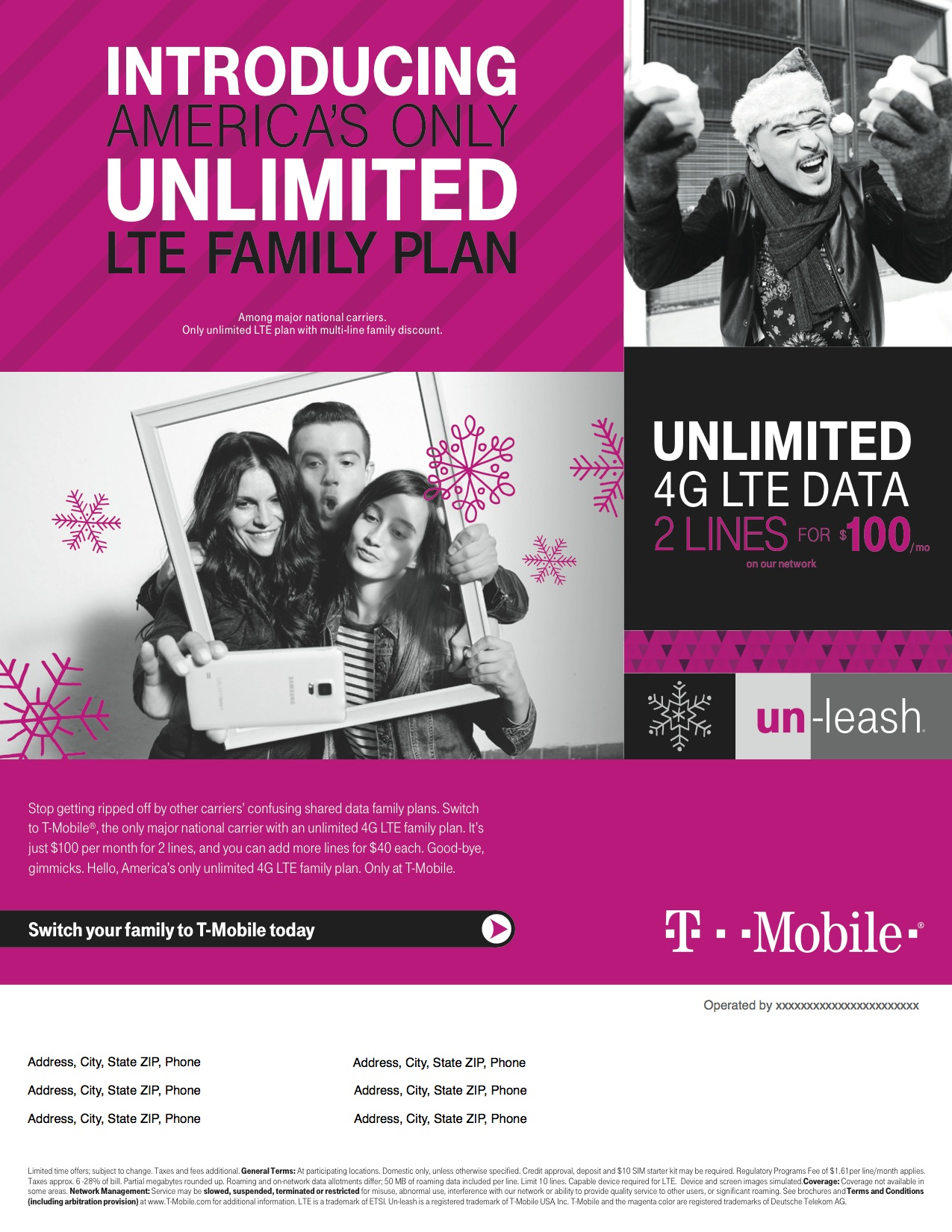Two Lines with Unlimited Everything for $100 a Month! at Tmobile