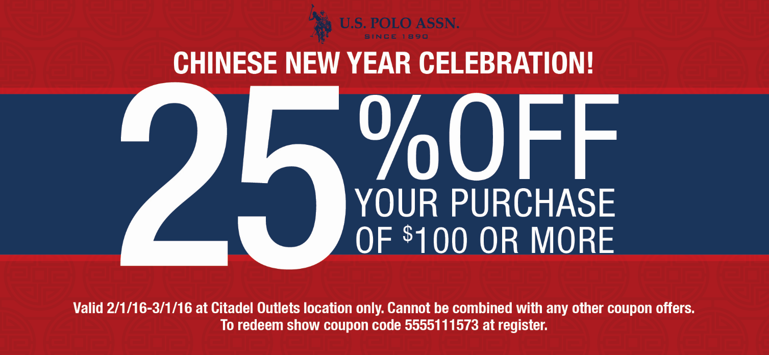 Chinese New Year Coupon!