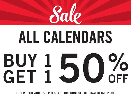 BOGO Calendars 50% OFF