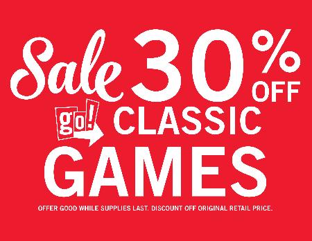 30% OFF GO! Classic Games