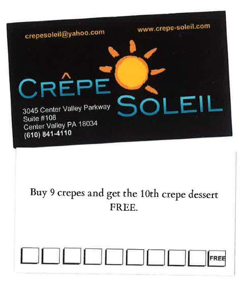 Crepe Soleil Loyalty Program
