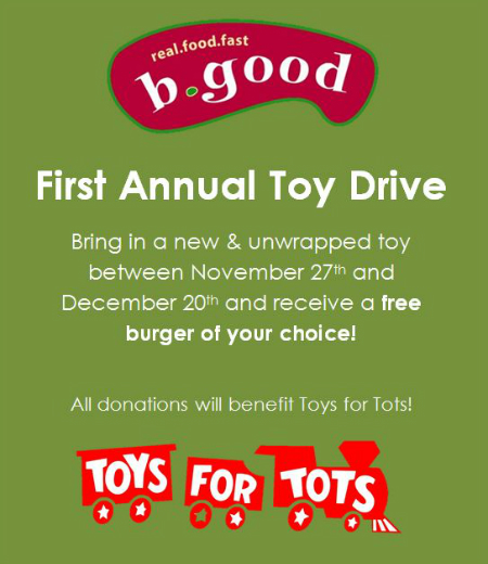 First Annual Toy Drive (Plus score a free burger!)