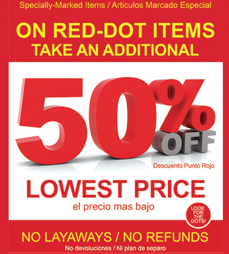 Red-Dot Sale at SHOE DEPT.