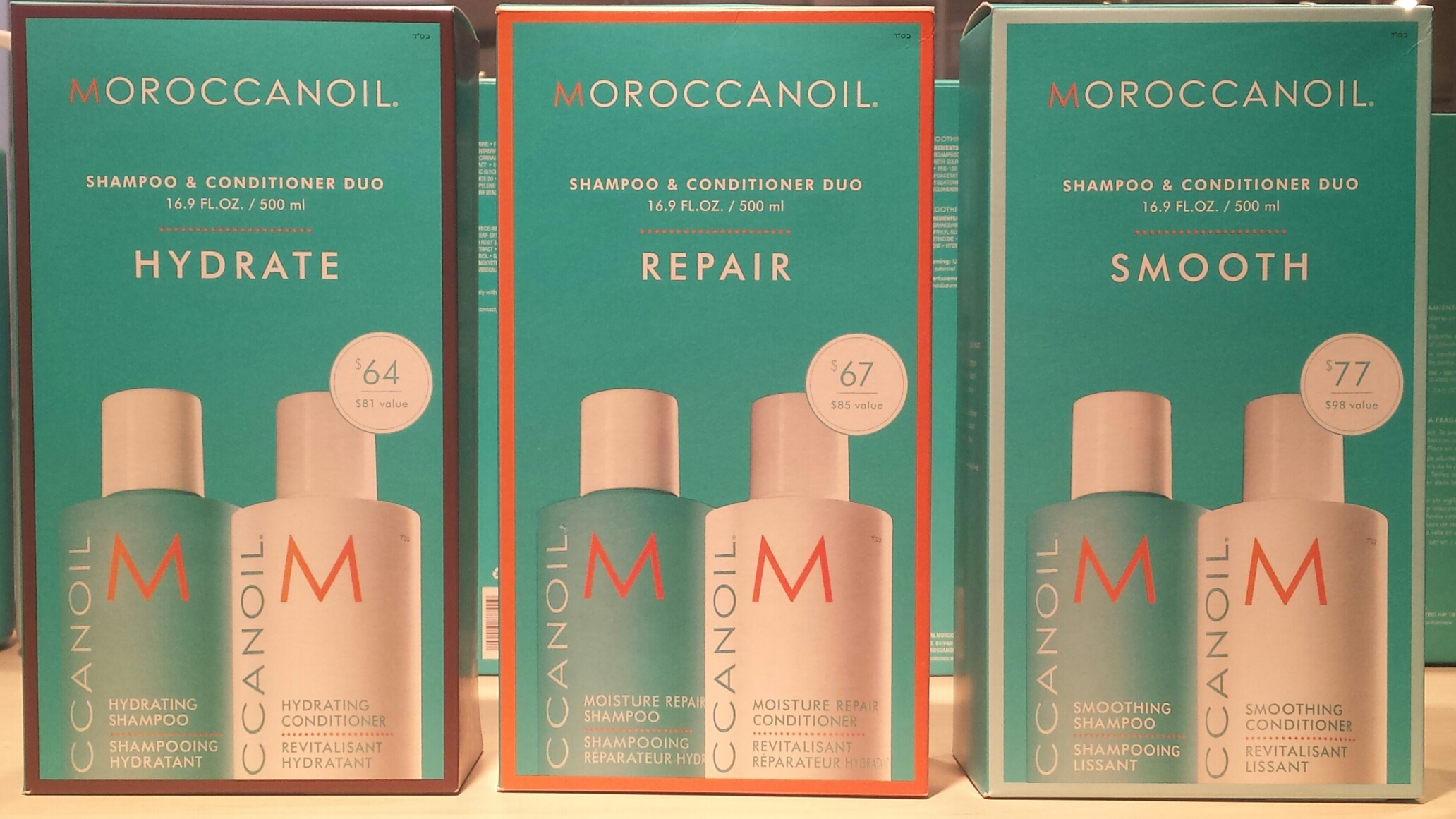 MoroccanOil and Aquage product lines