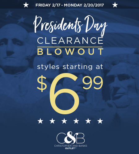 President's Day Weekend Clearance Blowout Sale