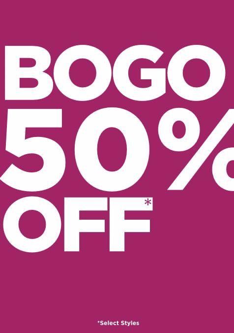 BOGO 50% OFF!