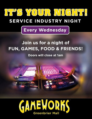 GameWorks | Service Industry Night