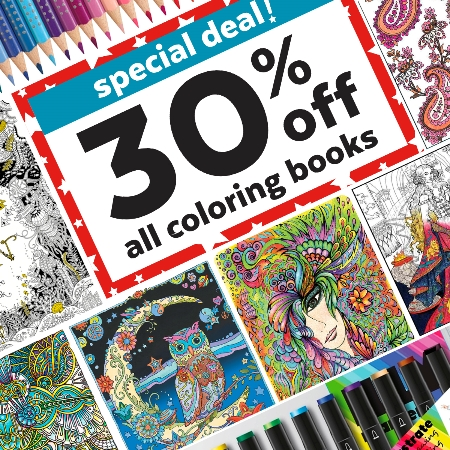 30% OFF Coloring Books!