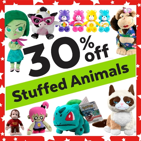 30% OFF Stuffed Animals!