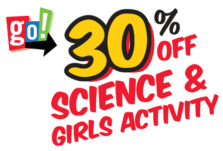 30% OFF SCIENCE & GIRLS ACTIVITY KITS