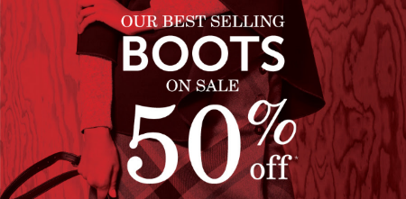 50% Off Best-Selling Boots