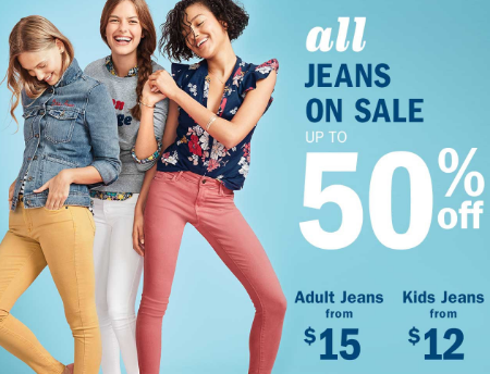 All Jeans up to 50% Off