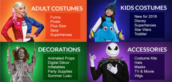 Costumes, Decorations & Accessories