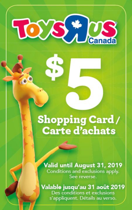 82fd95c5ac5 Make a purchase at NYF, and get a $5 Toys R Us Shopping Card FREE
