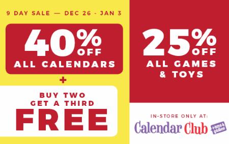 Timmins Square CALENDAR BLOWOUT Calendar Club Canadian