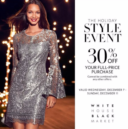 White House Black Market's Holiday Style Event