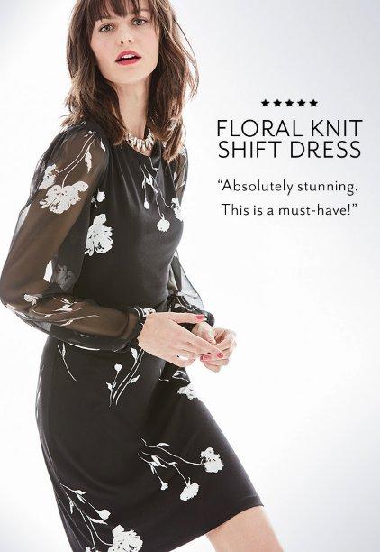 6ca02b732fc Derby Street Shops     Chiffon-Sleeve Floral Polished Shift Dress     White  House Black Market