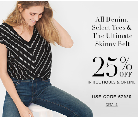 25% Off All Denim & Other Select Full-Price Styles