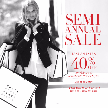Semi-Annual Sale! 40% Off Markdowns & Select Full-Priced Styles
