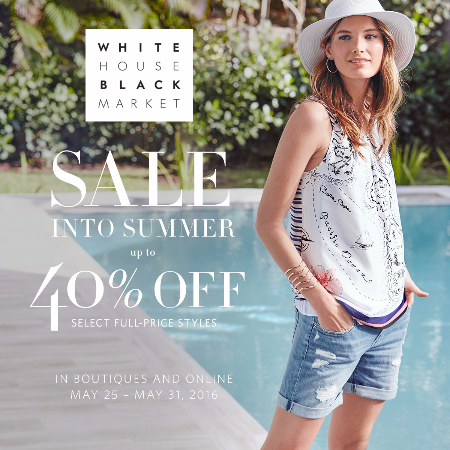 Sale Into Summer - 40% Off Select Full Price Styles