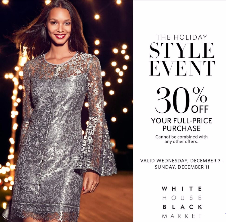 White House Black Market Holiday Style Event