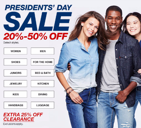 20%-50% Off Presidents' Day Sale