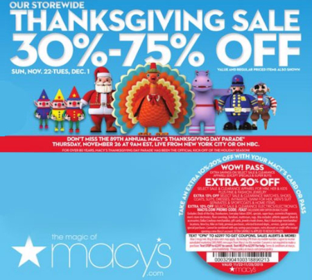 Thanksgiving Sale 30%-75% Off