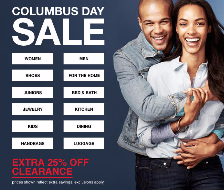 Extra 25% Off Clearance at Macy's