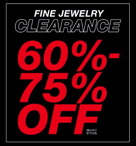 Fine Jewelry Clearance 60%-75% Off