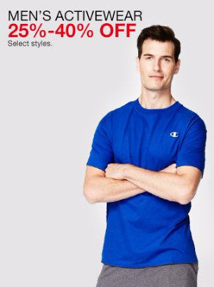 25%-40% Off Men's Activewear