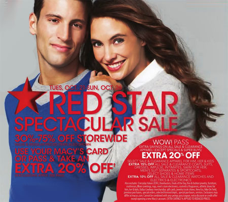 Red Star Spectacular Sale at Macy's
