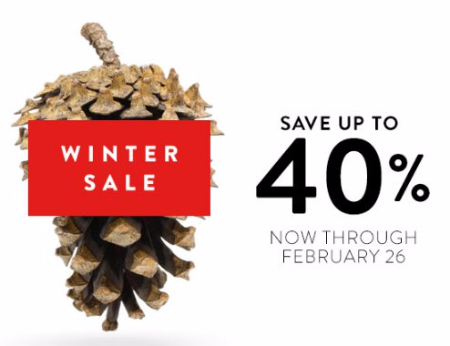 Winter Sale up to 40% Off