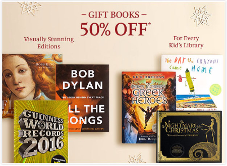 50% Off Gift Books