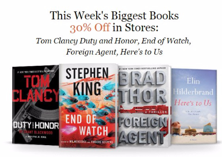 30% Off This Week's Biggest Books