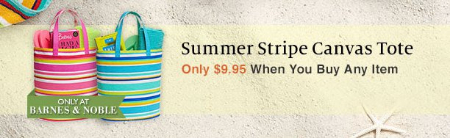 Summer Stripe Canvas Tote Only $9.95 When You Buy Any Item