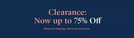 Up to 75% Off Clearance