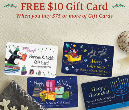 Free $10 Gift Card Offer at Barnes & Noble
